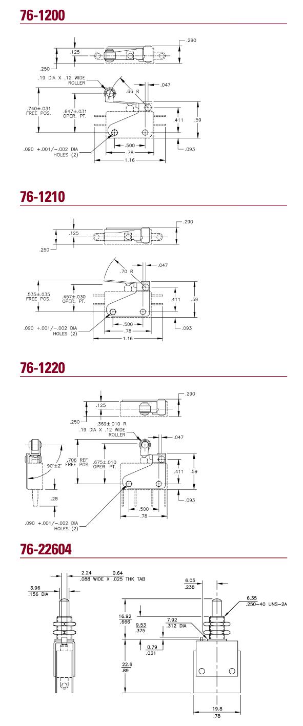 Elektromechanische Komponenten Schnappschalter Versorgung - ITW ...