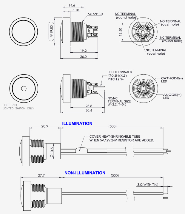 Pushbutton Switches Sealed Series
