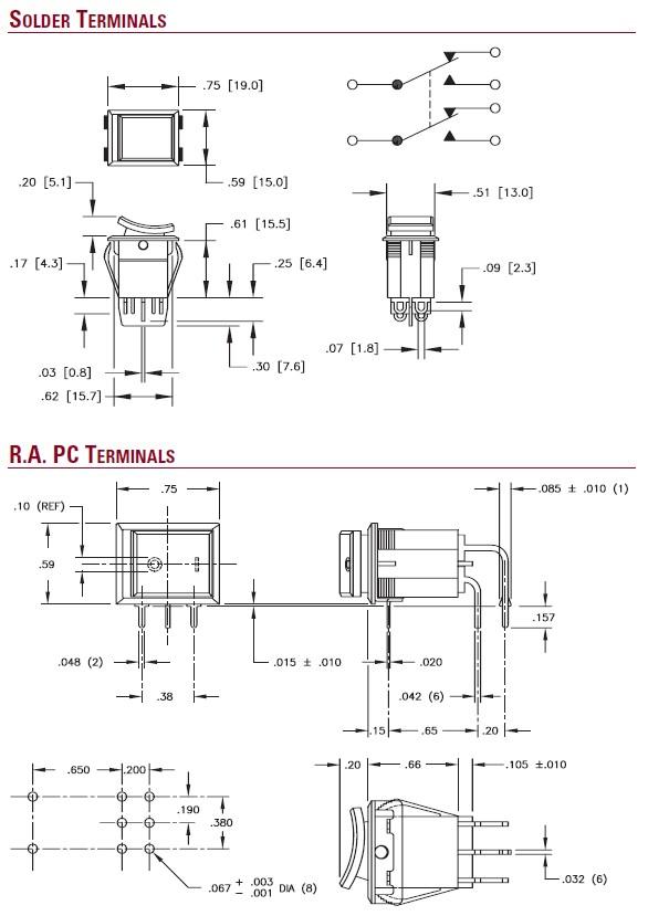 Elektromechanische Komponenten Wippschalter Versorgung - ITW ...